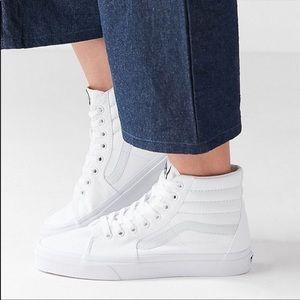 Vans High Top White Tennis Shoes